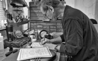Glen Craig and his fantastic shots at Sadowsky's workshop