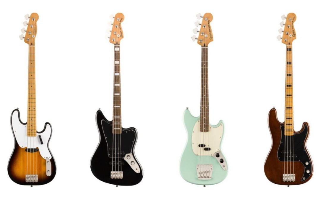 New Squier Classic Vibe basses from Fender